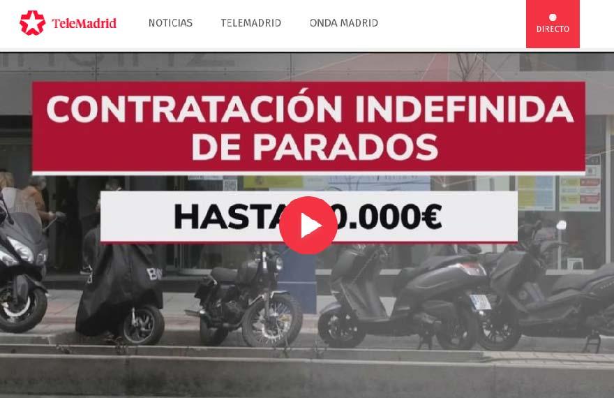 telemadrid subvenciones por contratación indefinida de parados